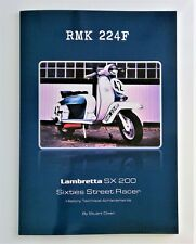 BRAND NEW LAMBRETTA SX 200  BOOKLET   RMK 224F NUMBER 42 SX 200 STREET RACER