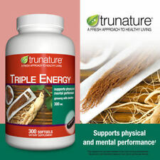 TruNature Triple Energy Ginseng w/ Eleuthero 300 mg., 300 Softgels New!!