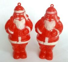 Vintage Rosbros Candy Container Santa's with Gift Bags Both Nice