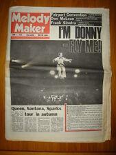 MELODY MAKER 1975 JUN 7 OSMONDS QUEEN SANTANA SPARKS