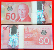 100Pc Play Money 50 Canadian dollars Full Print Double Sided Size Fake Replica