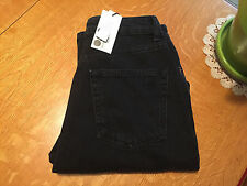 TOPSHOP MOTO MOM HIGH RISE DISTRESSED STUDDED BLACK ANKLE JEANS 28 X 27 NWT