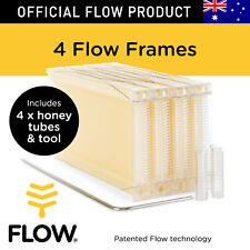 FLOW FRAMES 4 pcs Honey Tubes w Tool for Flow Hive Super Classic Beehive