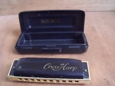 Hohner Diatonic Cross Harp in D with Case Free UK Post