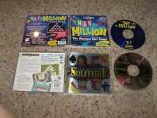 Ultimate Solitiare & Win a Million (PC, 2000)