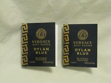 Versace 'Dylan Blue' For Men Pour Homme Perfume 2x Spray Vials NEW