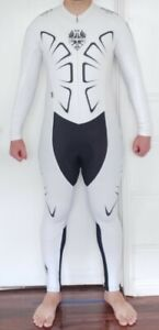 Bianchi Milano Italy winter cycling skinsuin speedsuit L Large FULL BODY SUIT