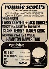 Larry Coryell Jack Bruce Clark Terry show advert Time Out cutting 1971