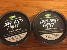 LUSH Handmade Cosmetics LOVE AND LIGHT Hand Cream Lot of Two 1.5  oz NEW