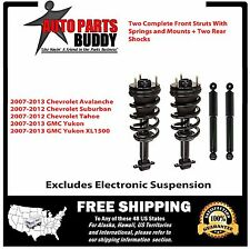 Full Set 2 GM SUV Front Complete Struts + 2 Shocks Avalanche Tahoe Yukon