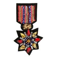 Iron/Sew on Patch Rhinestone Bead Applique f Dress Bag Shoes DIY Badge Motif