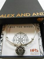 Alex and Ani TAKE THE WHEEL Expandable Wire Bracelet Rafaelian Silver NWTBC