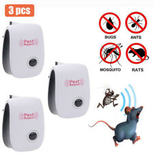 3X Electric Pest Repeller Anti Insect Ultrasonic Plug In Mice Mouse Rat Rodent