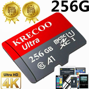 256GB 128GB 64GB Micro SD Speicherkarte C10 108MBs für Telefonkamera mit Adapter