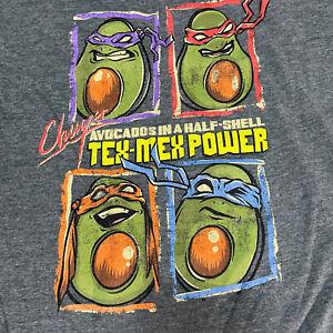 Teenage Mutant Ninja Avocados Chuy's T-Shirt Adult Large Medium TMNT&A