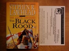 Stephen R. Lawhead—THE BLACK ROOD—HC—2000—publicity sheet—Celtic Crusades Book 2