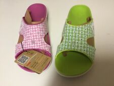 Spenco Total Support Kholo Sandal Green and Pink  Gingham Size 10 Womens New 2Pr