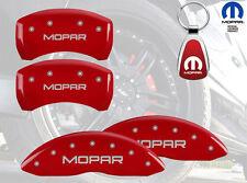 2015 Dodge Challenger SXT MGP Brake DIsc Caliper Covers Front Rear MOPAR Red