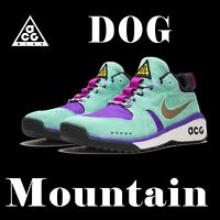 "LIMITED EDITION NIKE ACG ""DOG MOUNTAIN"" RUGGED OUTDOOR TRAIL HIKING GREEN SZ 4"