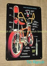 DRAGSTER bicycle TIN SIGN vintage 70s old school retro BIKE CYCLING Metal art