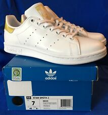 BB0209 adidas Shoes Stan Smith Junior Leather white/white/gold 2017 Kids Size 7