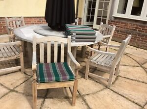 Barlow Tyrie Outdoor Sunbrella Seat Cushions/pads X 4