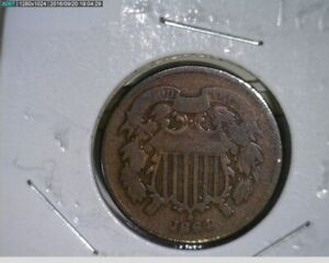 1864 2c Two Cent  Civil War Coin ( 34-182 4m/1 )