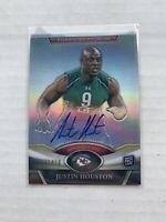 2011 Topps Platinum JUSTIN HOUSTON RC Rookie Autograph Card #37 Chiefs /1450