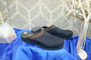 Vintage Original Rugged Outback Women's Blue Wool Clog Shoes Size 10   free ship
