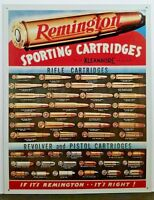 REMINGTON SPORTING CARTRIDGES RETRO COLLECTIBLE TIN SIGN NEW 1001 MADE IN USA