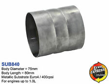 Catalytic Converter Universal Metallic Substrate 75mm 3'' Euro4 400cpsi SUB840