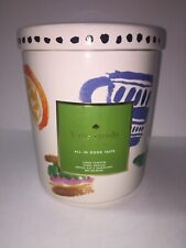 New listing Nwt Kate Spade New York All In Good Taste Large Jar Pot 8 Inch Canister