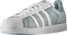 ADIDAS Originals Superstar Verde Uk 13.5 S75961 vapore Verde Superstar Bianco Trainer Nuova Shell e6581c