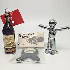 Wine lovers gift pack Buddy Cork Screw, Ornament and Bottle Stabilizer