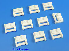 LEGO® 1x2 Platte vertikal horizontal Griff weiß / 10 Stück