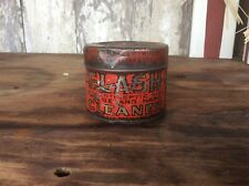 Vintage Flash Antiseptic House And Hand Cleaner, Tin Can , Orange , Advertising