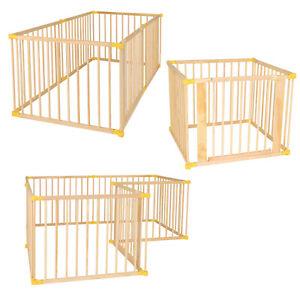 Parc en bois pour bébés et jeunes enfants, 270° pliable, différents ensembles