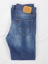 Levis 514 Slim Straight Shiny Blue Jeans, Boys Size 16 Regular 28x28