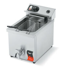 VOLLRATH 15LB ELECTRIC COUNTER TOP FRYER MEDIUM DUTY WITH DRAIN 220V - 40709