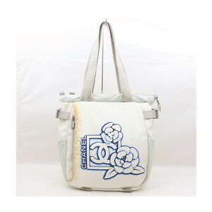 Chanel Tote Bag pretty Whites Nylon 2202524