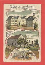 Alte AK  HAYN Gruss Gasthaus zur goldenen Aussicht Schlegel