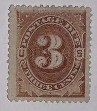 Travelstamps: 1879 US Stamps Scott #J3 Postage Due Stamp MNG 3 Cent