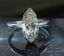 Platinum 2.05 Carat Solitaire Diamond Ring  Marquise  by PRAVINS