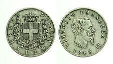 pcc1178_3) Regno Vittorio Emanuele II  lire 2 stemma 1863 Na
