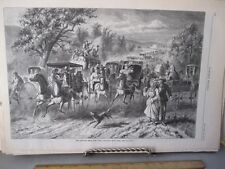 Vintage Print,RETURN FROM THE FAIR,Harpers,1873