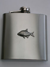 BREAM FISH FISHING  BRAND NEW 6OZ STAINLESS STEEL HIP FLASK great gift!!