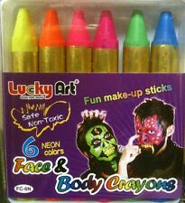 UV Neon Face paint make up sticks crayon Halloween ultra violet Not Glow in dark