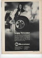 "1970 Keystone Traction Slot Mags Wheels Sexy Girl Leggy Newcomer Print Ad """