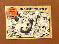 1968 Topps Yaz Smashes Two Homers WS Game #2 Card #152 EX-NM HOF Boston Red Sox