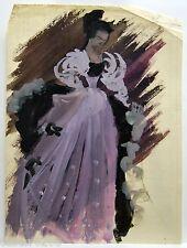 GOUACHE MODE robe de bal DESSIN S. Deniel mi XXè (8)